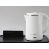 科瑞德酒店烧水壶 小型热水壶宾馆客房专用304不锈钢电热水壶托盘