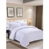 酒店床上用品四件套宾馆床单被套布草专用纯棉白色全棉纯白被罩夏